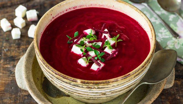 מרק סלק גזר ועגבניות