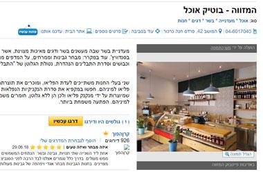 המזווה - בוטיק אוכל, כתבה באתר מפה