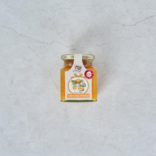 קונפיטורה תפוז ג'ינג'ר